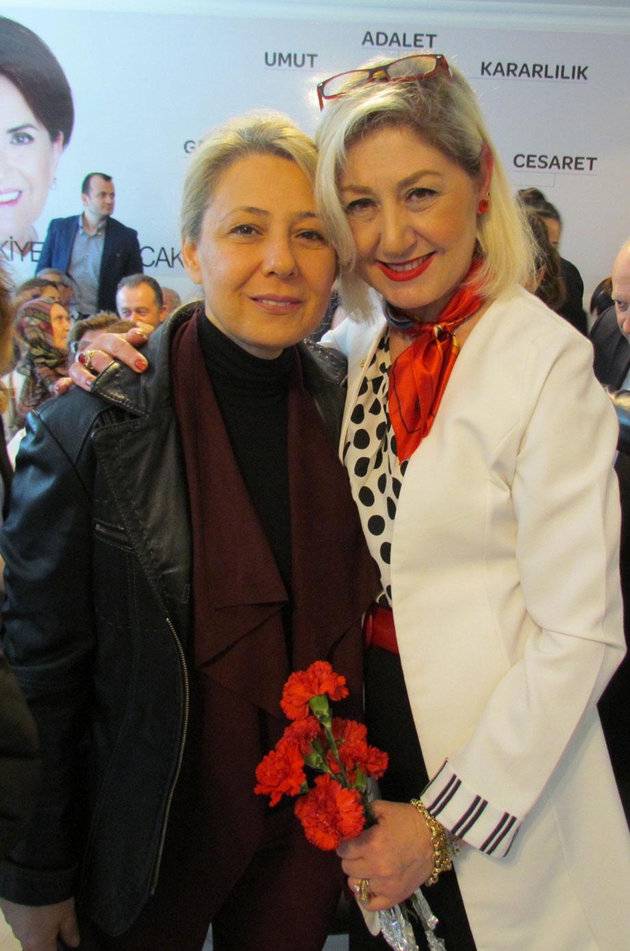 İYİ Parti Serdivan İlçe Başkanı Nurdan Aygün- Şule Bayri