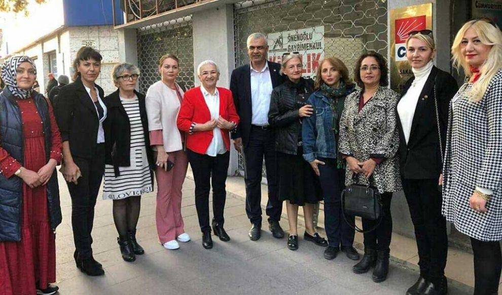 TKB Şube Başkanı Tevhide Yağan ve yönetim kurulu üyeleri CHP'yi ziyaret etti.